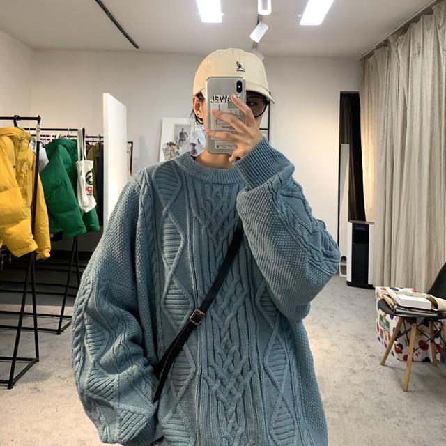 オーバーサイズニットセーター M-XL
