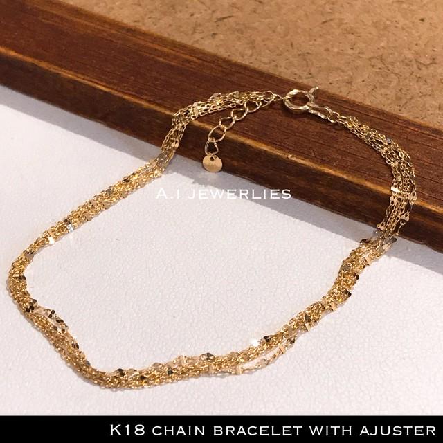 ブレスレット 18金 チェーン k18 チェーン ブレスレット 18cm / k18 chain bracelet  18cm