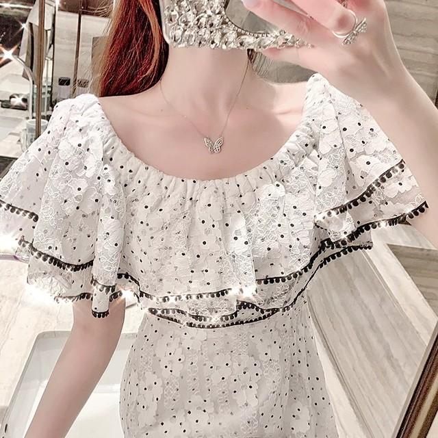 spangle line dress