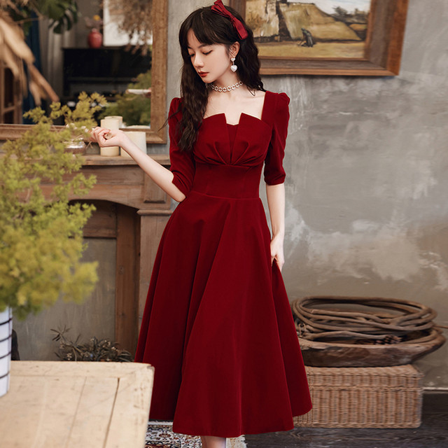 【花嫁物语シリーズ】★成人式ドレス★ ワンピース パーティードレス 結婚式 赤 大きいサイズ S M L LL 3L ファション