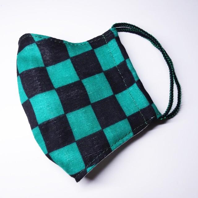 【鬼滅の刃】 炭治郎カラー 子供用 布マスク 【2サイズ】