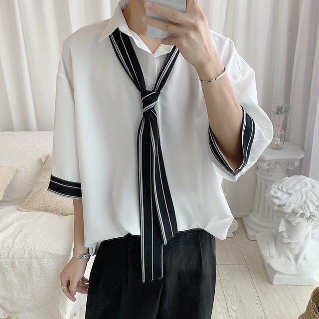 スカーフ付きドレスシャツ