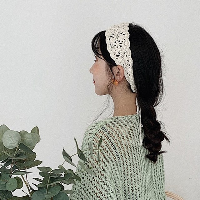 crochet lace head accessory 5c's