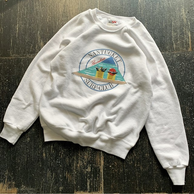 "Made in USA 80's Vintage ""SURF CLUB"" Sweat"