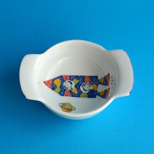 こども用食器 グラタン皿 ロケット 【studio wani】