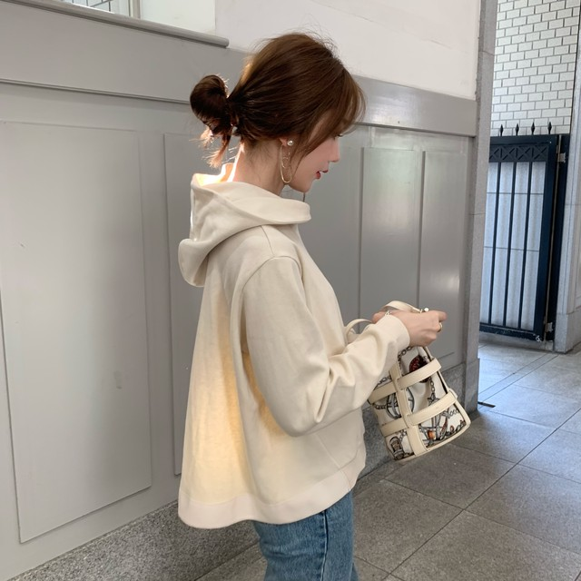 flare hoodie milk (即納)