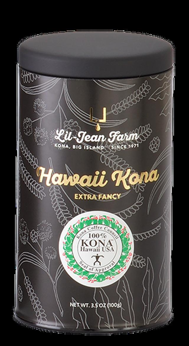 100%コナコーヒーエクストラファンシー焙煎豆100g(専用缶)