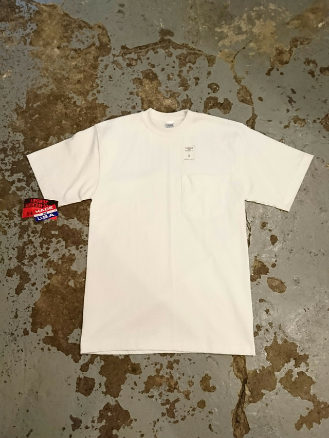 """CAMBER """"MAX-WAIGHT JERSEY POCKET TEE"""" White Color"""