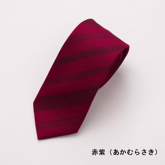 ネクタイ「衿結」献上博多シリーズ クラシック献上:赤紫