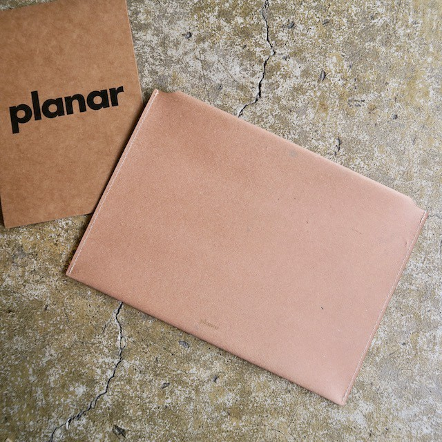 Planar  Recycled Leather Envelope Clutch