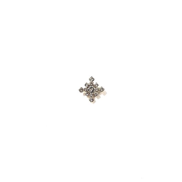 ピンブローチ 雪の結晶