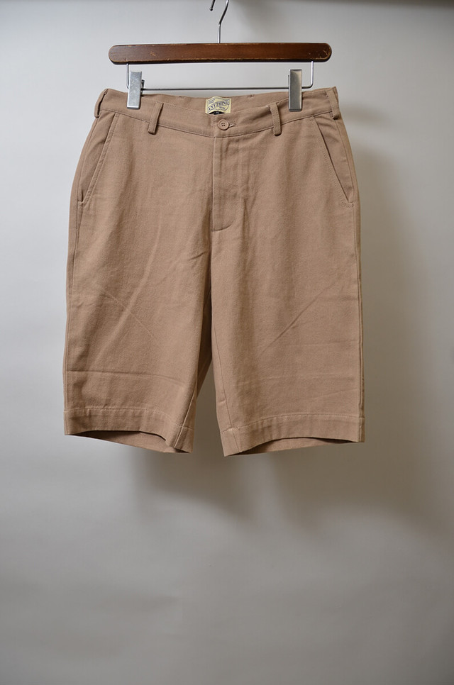 【w30】ANYTHING エニシング POCKET ACCENT CHINO SHORT チノショーツ BEIGE 400613190610