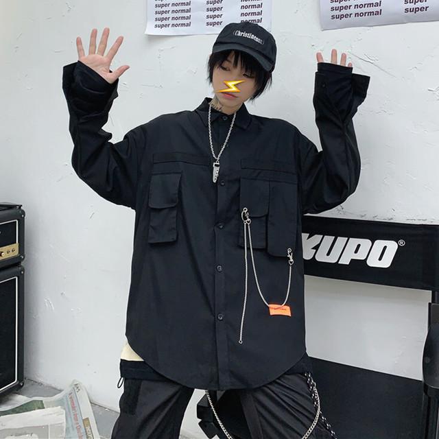 【トップス】韓国暗黒系ストリート長袖シャツ26367963