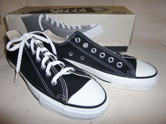 90's CONVERSE ALL STAR /Men's 7, OX / 黒 Dead Stock