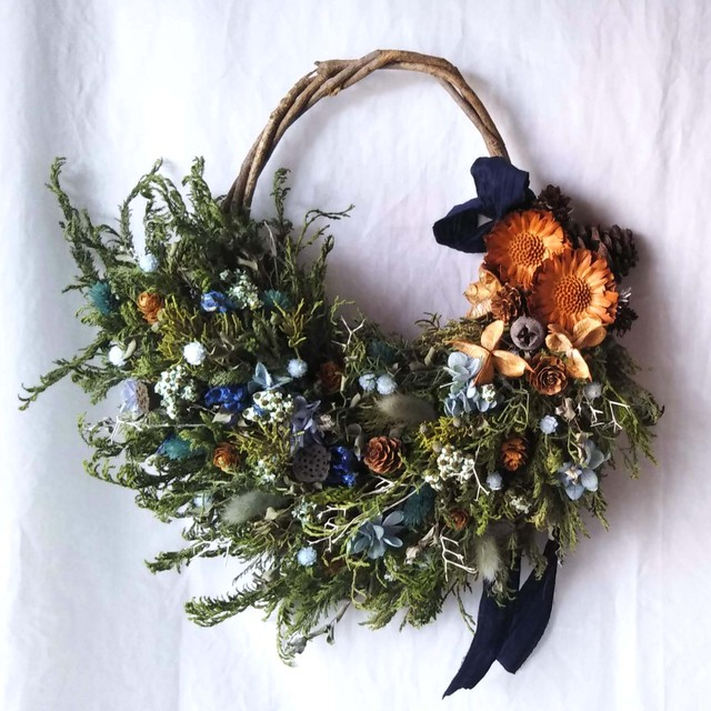 Blue forest wreath
