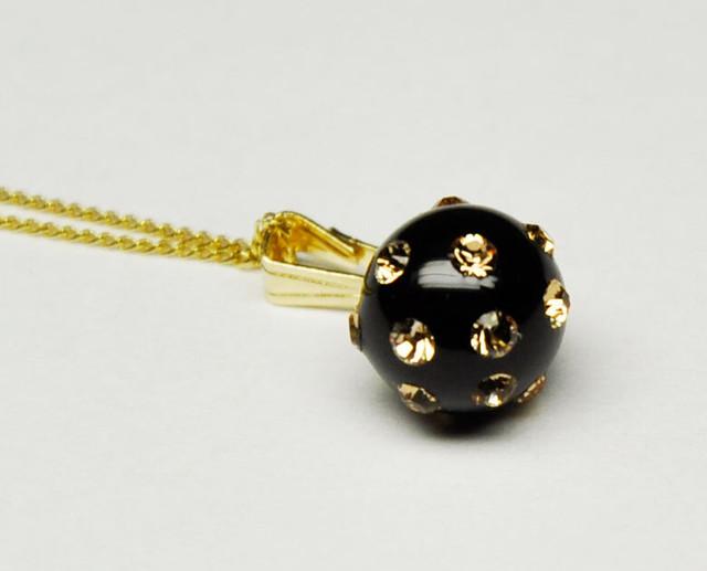 evokeGold ネックレス ブラックボール /スモール(ENG003)