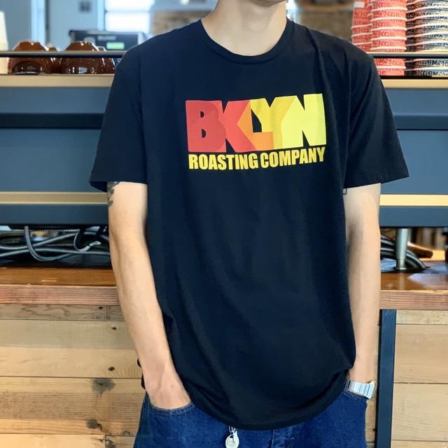 Original T-shirt Black × Orange(BKLYN)Logo