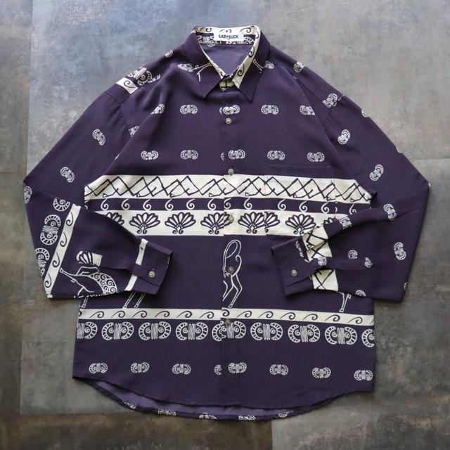 purple retro design shirt