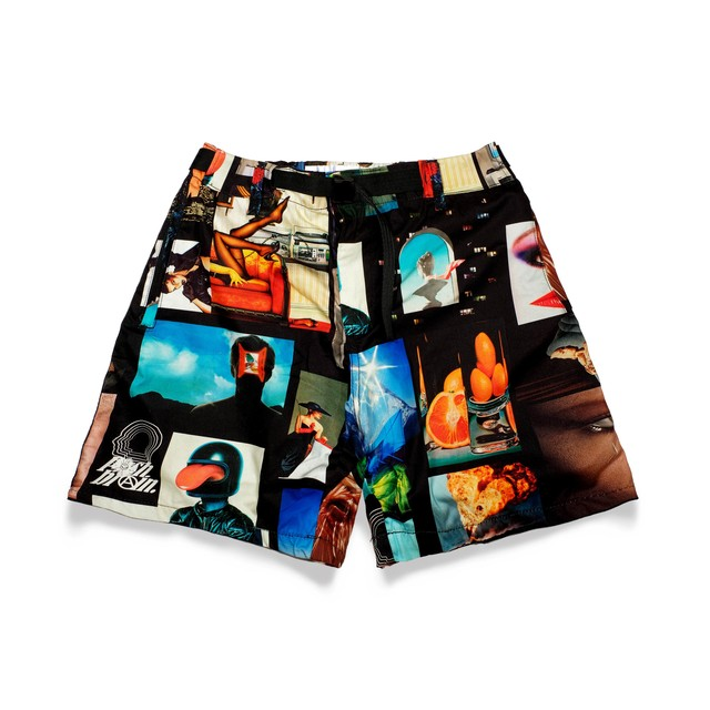 POSH BRAIN Degree Black Shorts MULTI