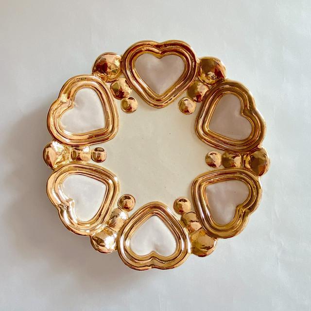 【Rey Yanagimoto】陶器・大ジュエリープレート/ラベンダー(Mirror heart103)