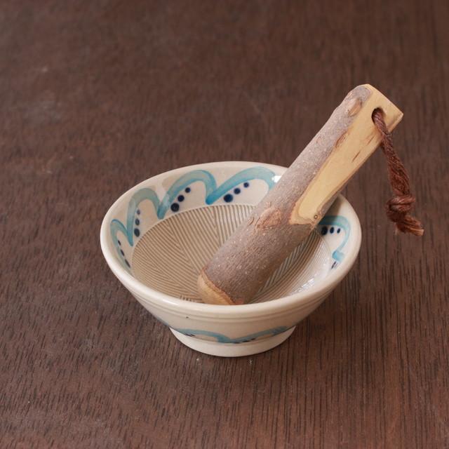 ちょっとした薬味作りにオススメ!ミニすり鉢15選「ミニすり鉢(すりこぎ付)」№05