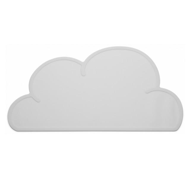 KG DESIGN(ケージーデザイン)クラウドマット グレー W47 x D27 x H0.3cm 雲 出産祝い シリコンマット