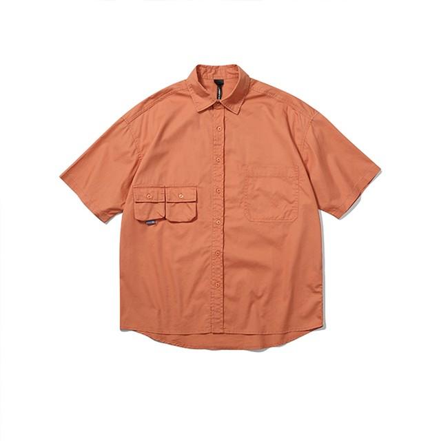 【UNISEX】ツインポケット ショートスリーブ ライトシャツ【3colors】UN-580