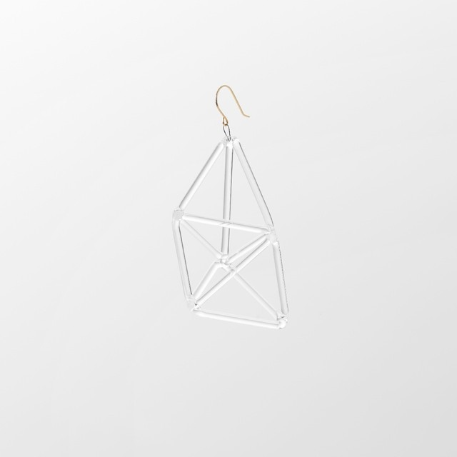 _cthruit シースルーイット triple triangle earring ピアス 【Clear】