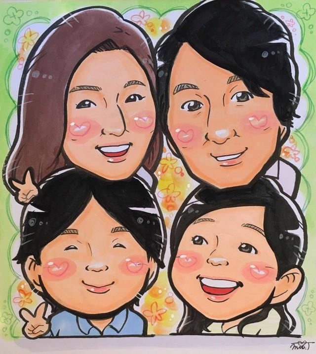 【色紙 or A4】5人入り似顔絵(絵師:みお)