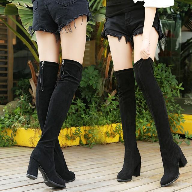 【シューズ】ファッションスエード定番ブーツ25972598