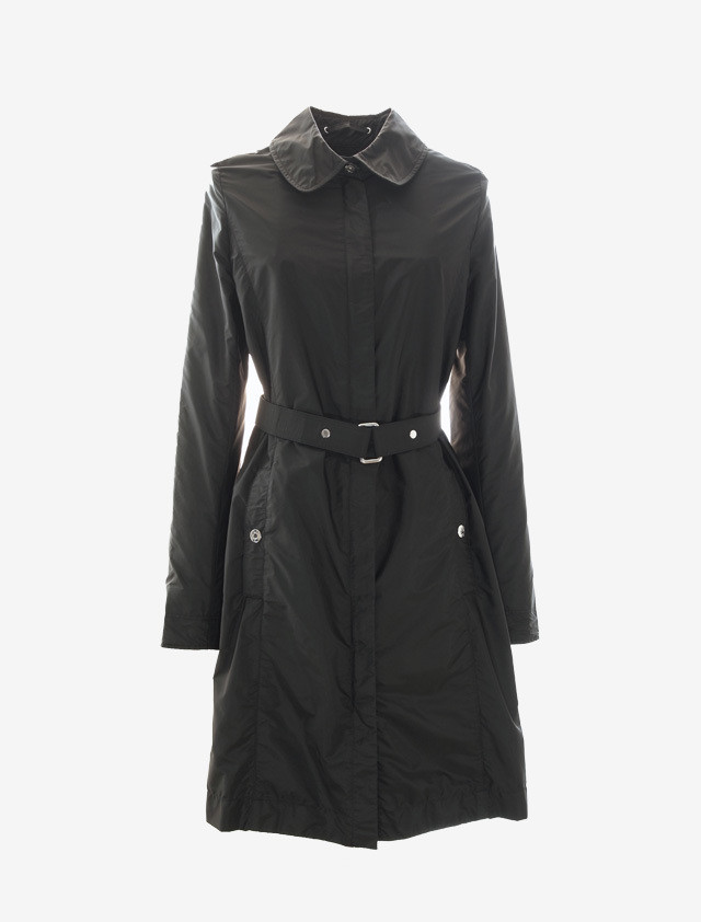 JIL SANDER NAVY NYLON COAT
