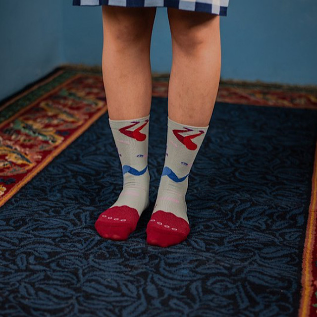 【Goodpair Socks】Fancy Footwork Dance・ソックス/グレー