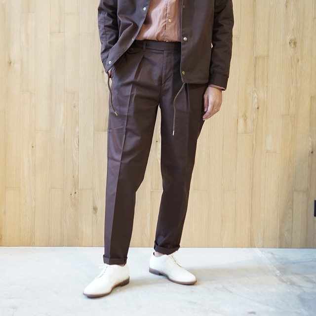 COLONY CLOTHING / ONE PLEATED PERENNIAL TROUSERS /CC20FW-PT02