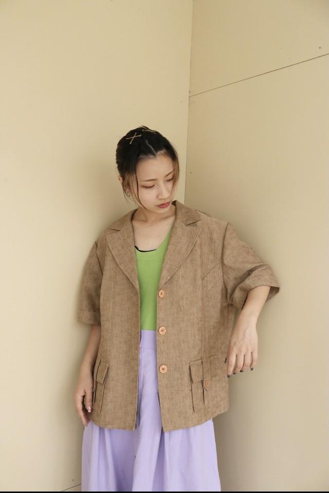 short sleeve tailored jacket / 7SSTP08-05