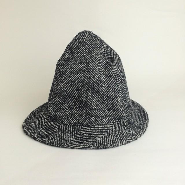 【women's】NOPPOハット BIGヘリンボーンウール/ブラック