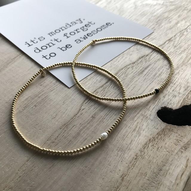Chill tabi 2set bracelet  / silver