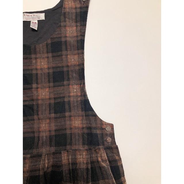 Vintage check jumper skirt