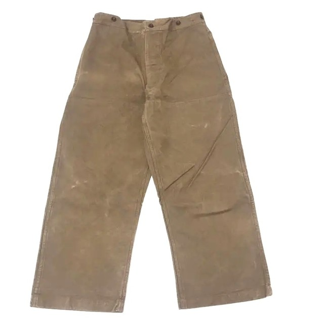 """""""Dead Stock"""" 50's SNCF French Work Pants Hight Back and Double Knee"""