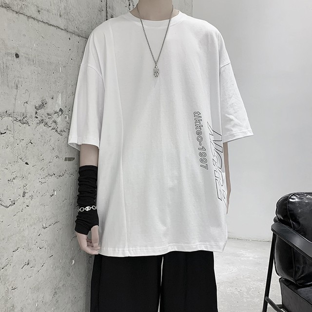 英字ロゴプリント・半袖Tシャツ
