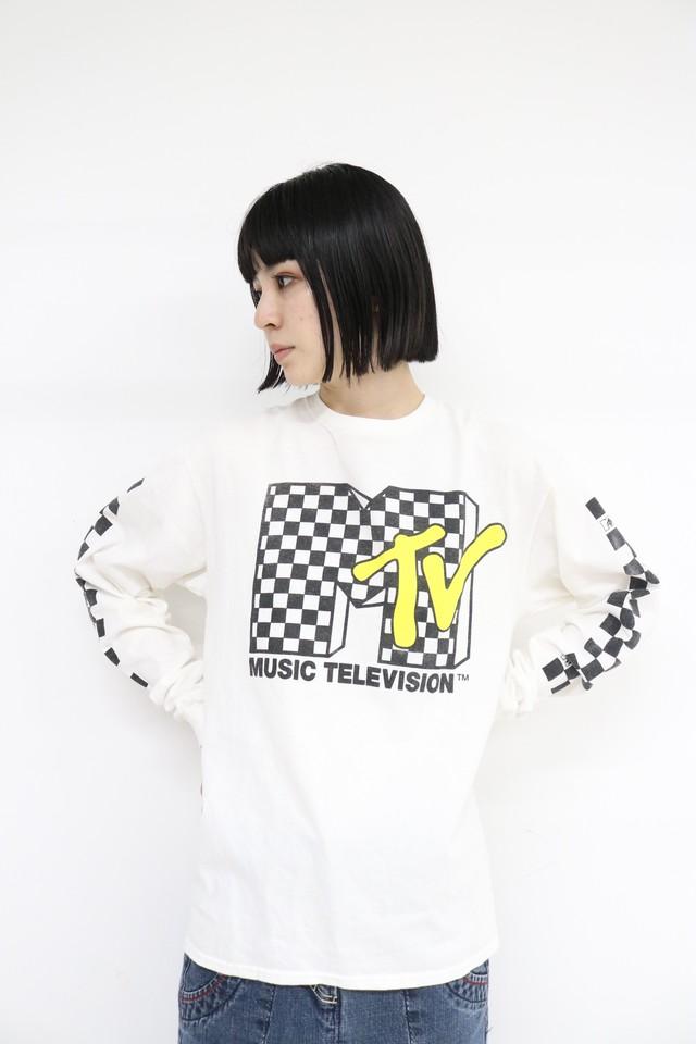 M-TV print long sleeves T-shirts / 4SSTP23-01