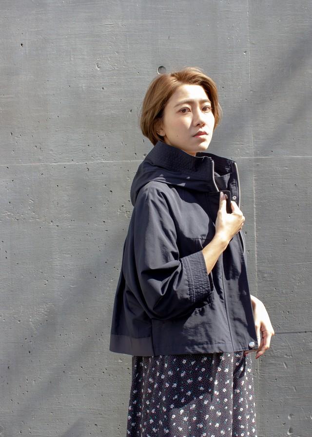 綿ナイロン グログランジャケット/ネイビー No.98525000/90