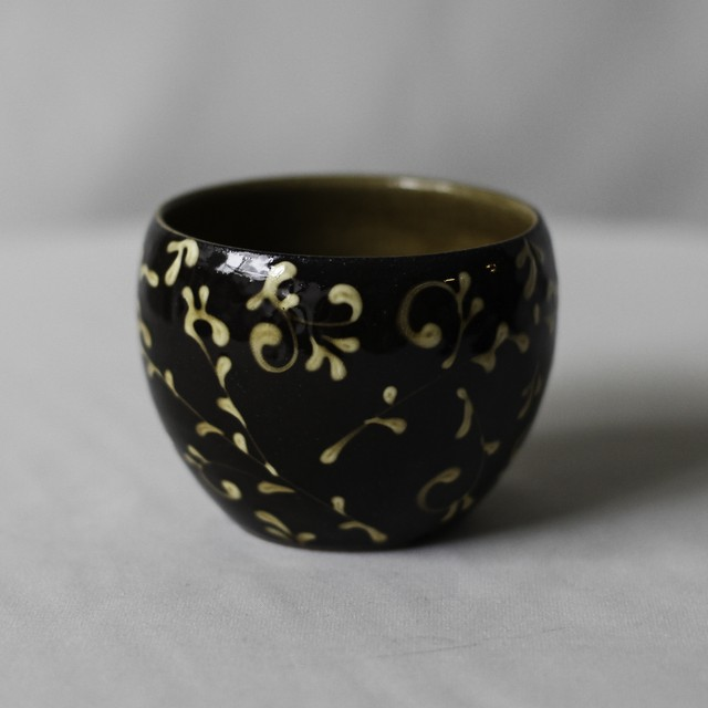 SLIPWARE BOWL POT(マーブル)※BROWN