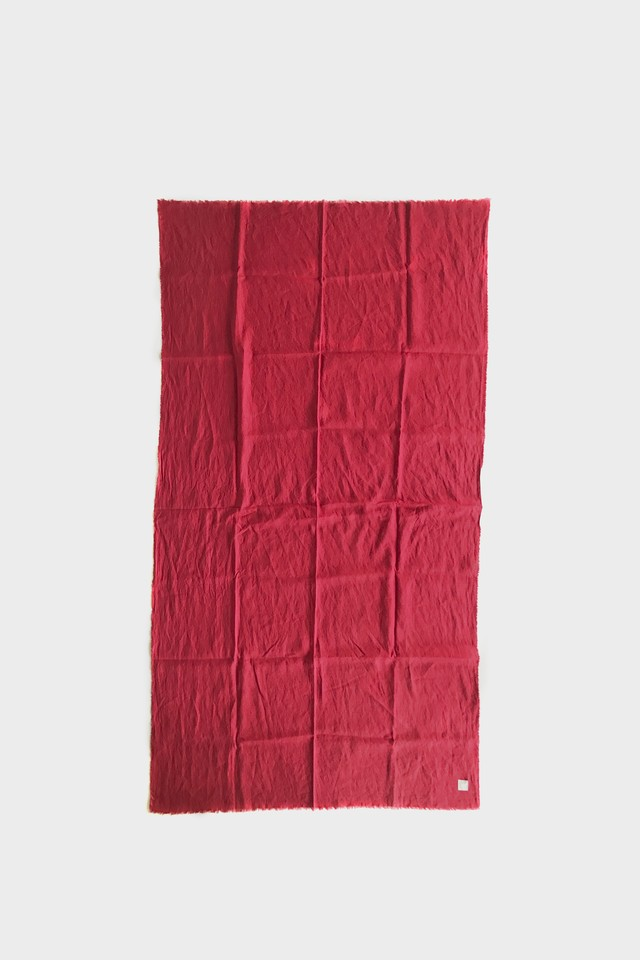 3001-2 80 linen stole / red