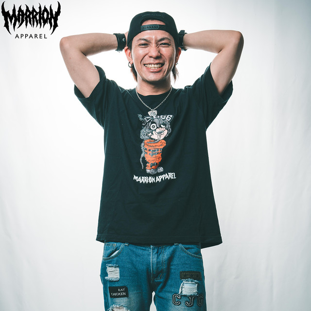【Cotton100%】MARRION-KUN666 TEE (Black)