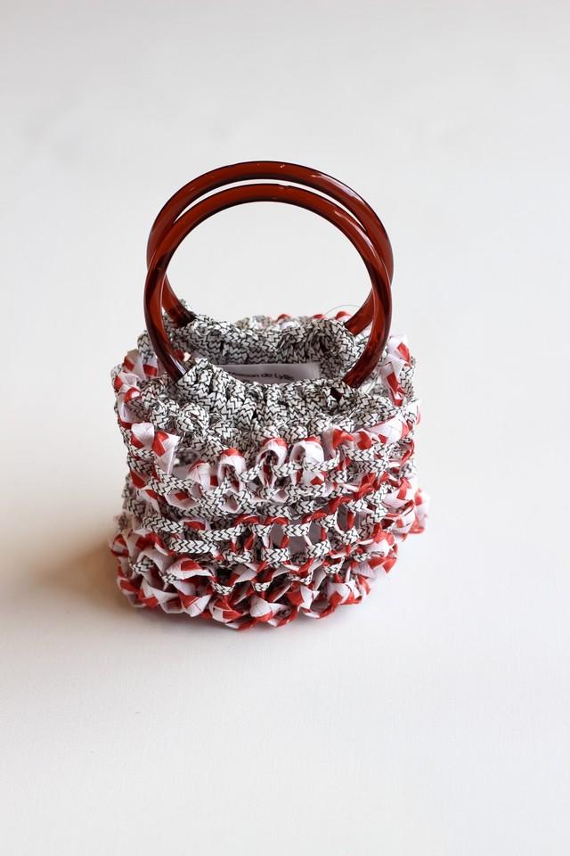 【La Maison de Lyllis】dead stock fabric bag-RED2