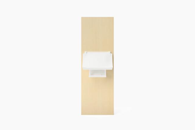 MIYA WALL NAGARE White (壁掛神棚 流造 マットホワイト)