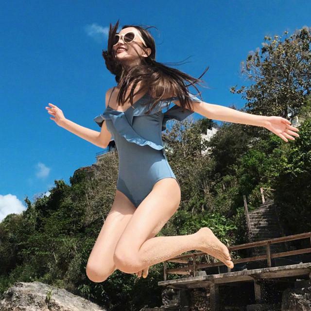 韓国ファッション ワンピース水着 フリル オールインワン水着 bbmizg655
