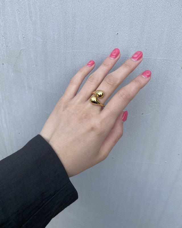Double drop ring Gold