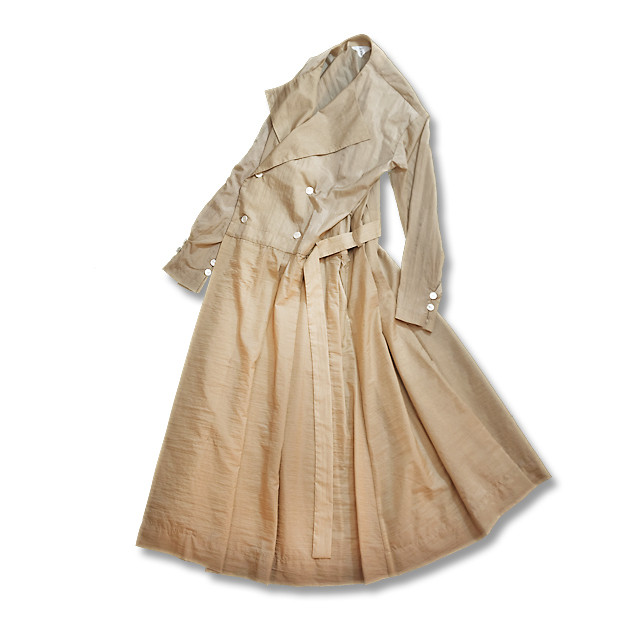 No collar dress coat  [ Beige ]