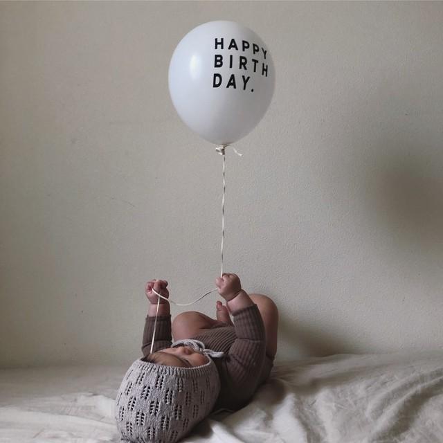 """HAPPY BIRTH DAY"" Balloon 5pacs (バルーン/ホワイト )UNICOM:TB001"